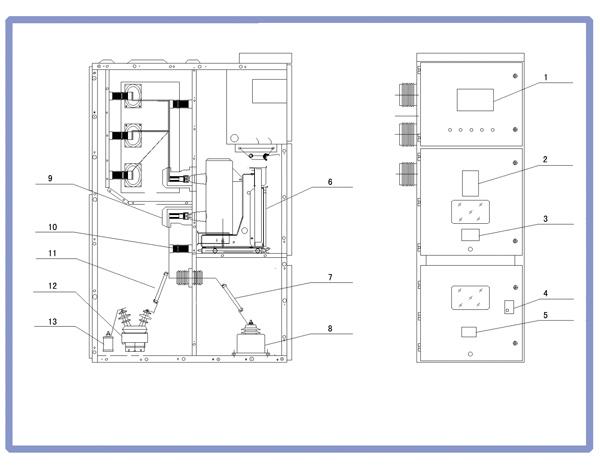 变电站和用电企业的3~35kv电力系统,并可替代pt柜,避雷器柜等.